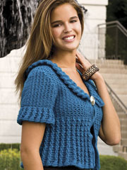 Trendy Cabled Cardi Crochet Pattern