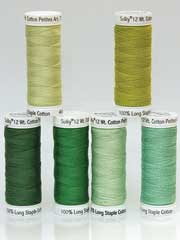 Sulky� Cotton Petites Greens, 12 wt. - 6/pkg.