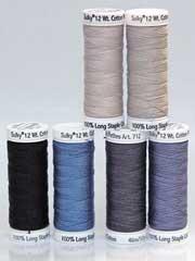 Sulky� Cotton Petites Blacks & Grays, 12 wt. - 6/pkg.