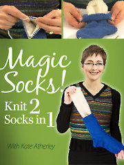 Magic Socks - Knit 2 Socks in 1