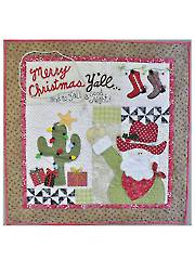 Merry Christmas Y'all Wall Hanging Pattern