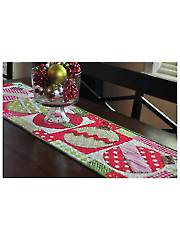 Merry & Bright Ornament Table Runner & Tea Towel Pattern