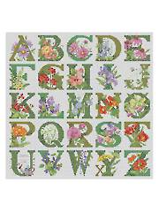 ABC Floral Cross Stitch Pattern