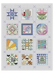 Quilt Block of the Month Cross Stitch Pattern