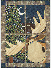 Northwoods Window Pane Quilt Pattern or Embellishment Set
