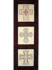 Spanish Crosses Redwork Pattern