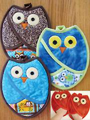 Who Owl Pot Holders Pattern