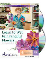 Learn to Wet Felt Fanciful Flowers Class DVD