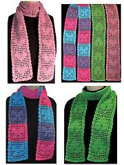 Filet Scarf Trio Pattern Pack