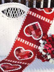 Patchwork Valentine Table Runner Pattern