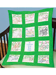 "Noah's Ark 9"" Prestamped Nursery Quilt Blocks"