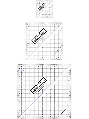 Bloc Loc Half Square Triangle Square Up Rulers Set II