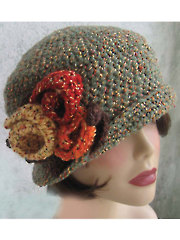 Crochet Brimmed Flapper Hat