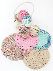 Knitted Round Facecloths & Soap Sacks