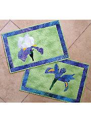 Blue Iris Placemat Pattern