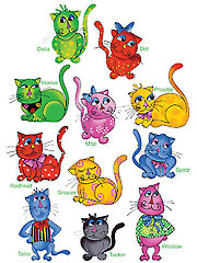 Cool Cats Embroidery Designs CD