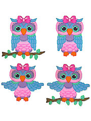 Pretty Pastel Owl Wall Hangings