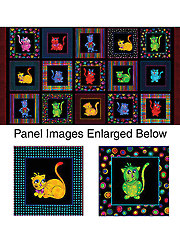 "Cool Cats Panel - 42"" x 24"""