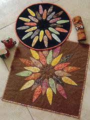 Leafy Wreath Table Topper Pattern