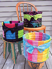 Tubular Baskets Sewing Pattern