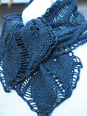 Drop Leaf Scarf Knit Pattern