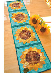 Patchwork Sunflower Table Runner Pattern