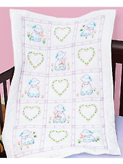 Sunbonnet Sue Prestamped Crib Quilt Top Pattern