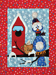Snowbird Low-Sew Wall Hanging Pattern