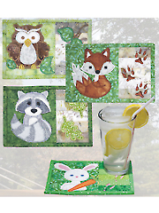 Backyard Buddies Mug Rugs Pattern w/Embroidery CD