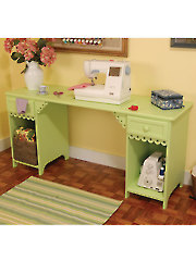 Olivia Sewing Cabinet - Green or White