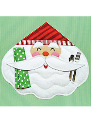 Merry Santa Placemat Pattern