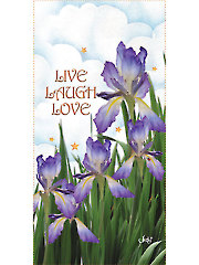 "Iris Live, Laugh, Love Panel - 6"" x 12"""
