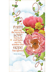 "Peony Faith, Love, Hope Panel - 6"" x 12"""