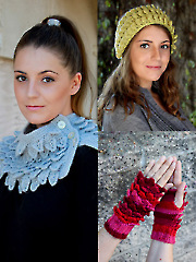 ANNIE'S SIGNATURE DESIGNS: Crocodile Knit Stitch Accessories