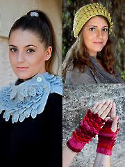 ANNIE'S SIGNATURE DESIGNS: Crocodile Knit Stitch Accessories