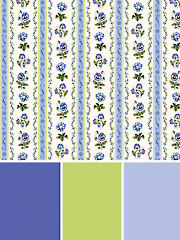 Botanical Blues Break Time Table Runner Fabric Pack