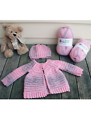 Raglan Baby Sweater & Hat