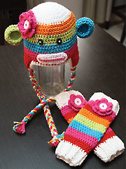 Sock Monkey Hat & Leg Warmers
