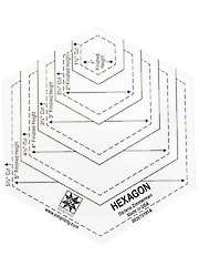 Hexagon Quilting Template - 5""