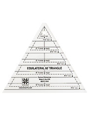 60� Equilateral Triangle Ruler