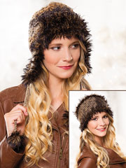ANNIE'S SIGNATURE DESIGNS: Eyelash Hat & Headband Knit Pattern