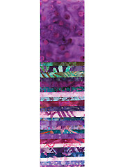 Purple Reign Batik Jelly Roll - 24/pkg.