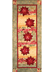 Floating Poinsettias Table Runner Pattern