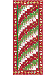Christmas Rainbow Bargello Table Runner Pattern