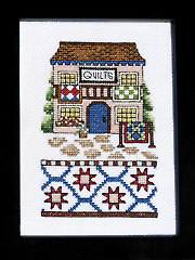 Quilt Shop Cross Stitch Pattern or Kit