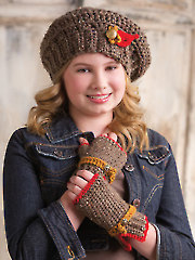 Boogie Woogie Beret & Fingerless Gloves