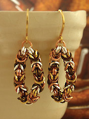 Square Mixed Metals Petite Byzantine Earring Kit