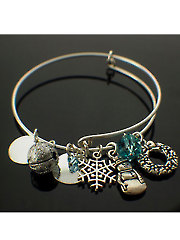 Christmas Charmed Bangle Kit-Silver