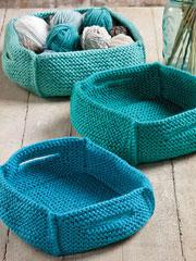 Wheatland Baskets Knit Pattern