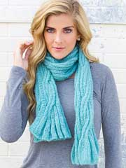 ANNIE'S SIGNATURE DESIGNS: Above the Clouds Scarf Knit Pattern